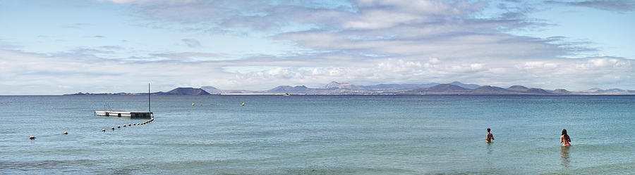 Panorama of Pontoon and Fuerteventura by Adrian Brockwell