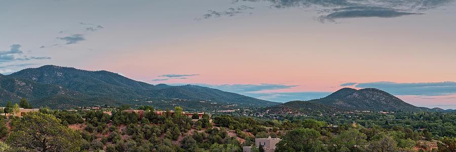 Santa Fe Photograph - Panorama Of Santa Fe Sangre De Cristo Mountains - New Mexico Land Of Enchantment by Silvio Ligutti