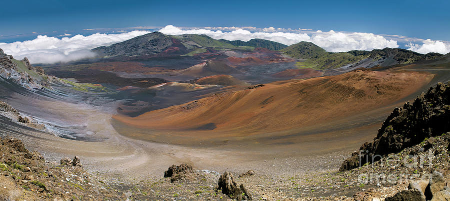 Panorama view of the Crater in Haleakala National Park by Frank Wicker