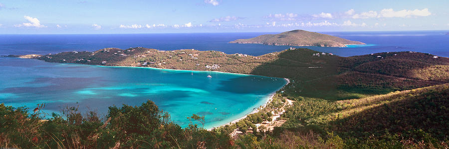 Aerial Photograph - Panoramic Aerial View Of Magens Bay by George Oze