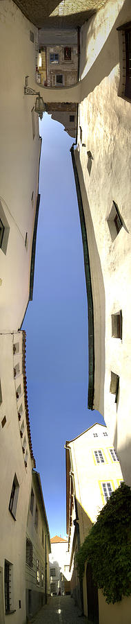 Panoramic Photograph Photograph - Panoramic Buildings Distortion Artwork by Jeff Schomay