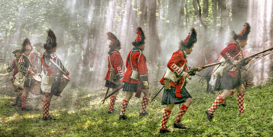 Drummer Digital Art - Panoramic French And Indian War Battle by Randy Steele