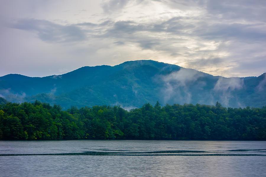 Panoramic Landscapes And Beautiful Nature At Lake Santeetlah Nor Photograph