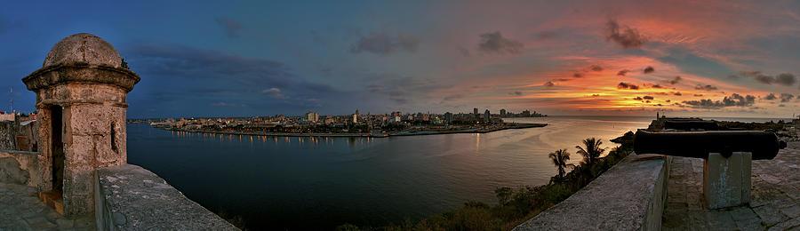 Architecture Photograph - Panoramic View Of Havana From La Cabana. Cuba by Juan Carlos Ferro Duque