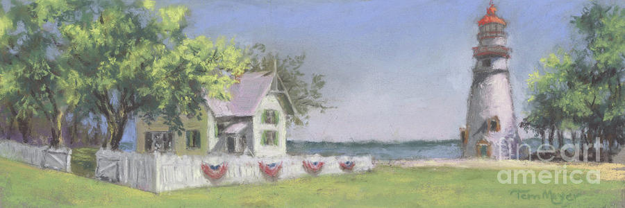 Panoramic View Of Marblehead Lighthouse Painting by Terri  Meyer