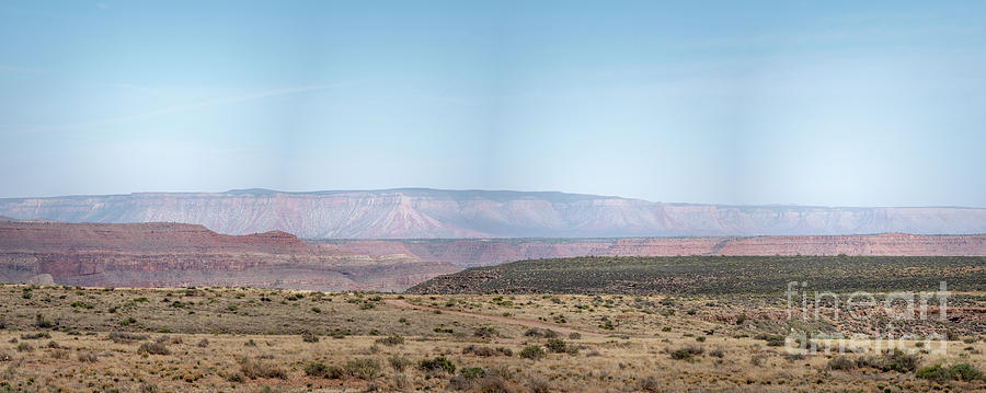 Arizona Photograph - Panoramic View Of Open Desert Field In Nevada With Grand Canyon  by PorqueNo Studios