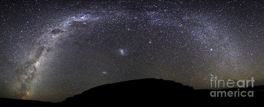 Argentina Photograph - Panoramic View Of The Milky Way by Luis Argerich