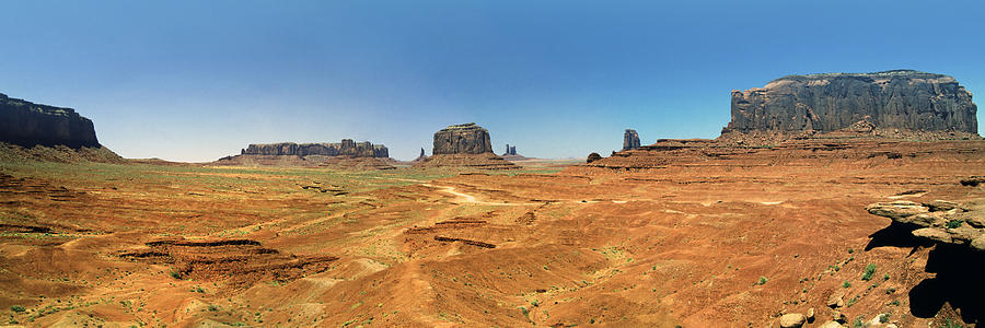 Arizona Photograph - Panoramic View Of The Monument Valley  by George Oze