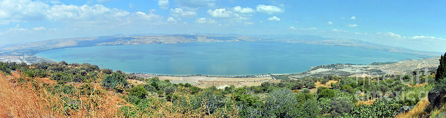 Sea Of Galilee Photograph - Panoramic View Of The Sea Of Galilee by Lydia Holly