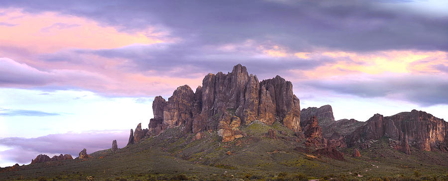 Panoramic View Of The Superstition Photograph by Tim Fitzharris