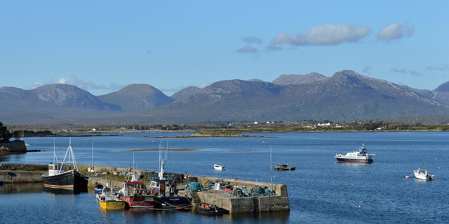 Ireland Photograph - Panoramic View Roundstone Harbour by Terence Davis