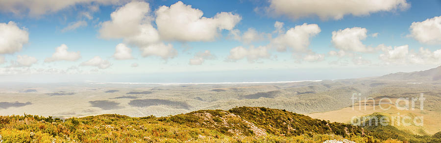 Australian Photograph - Panoramic Views From Mount Zeehan To Trial Harbour by Jorgo Photography - Wall Art Gallery