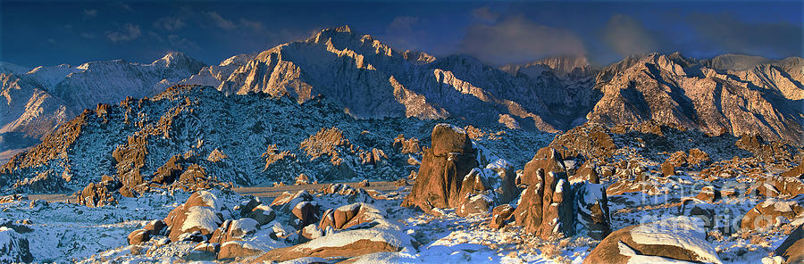 Dave Welling Photograph - Panoramic Winter In The Alabama Hills Eastern Sierras California by Dave Welling