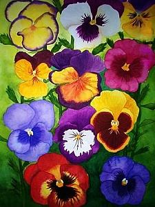 Pansies Painting - Pansies by Robin MacKenzie