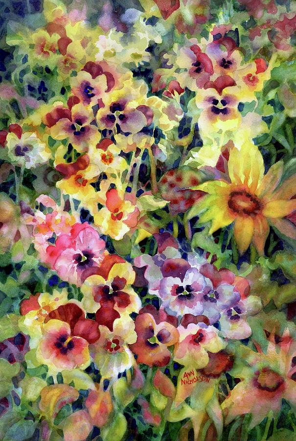 Pansies by Ann Nicholson