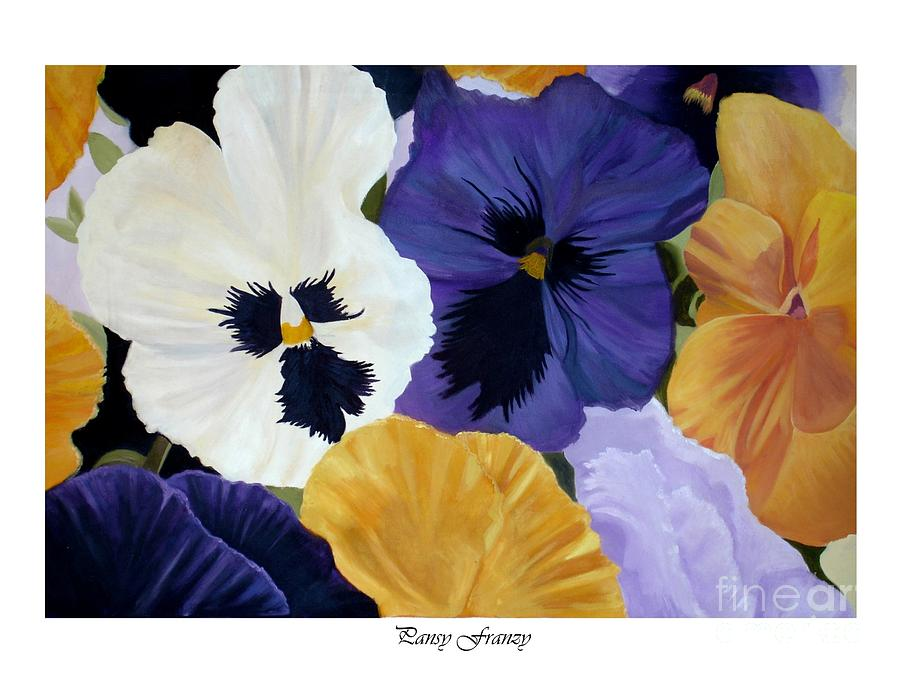 Pansy Painting - Pansy Franzy by Linda Mungerson