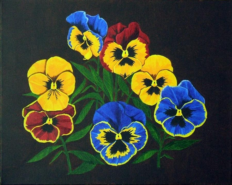Pansies Painting - Pansy Lions by Brandy House