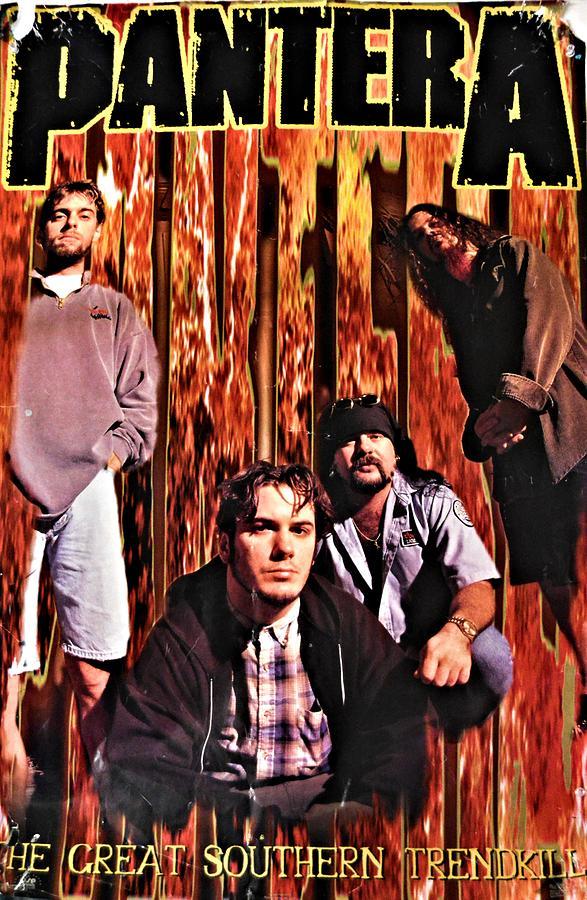 pantera heavy metal band poster photograph by richard jenkins
