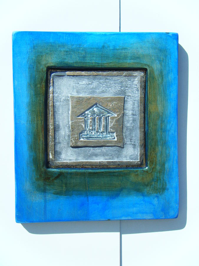 Abstract. Very Modern Composition. Incorporate Of Fused Glass Sculpture - Pantheon by Jolanta Sokalska