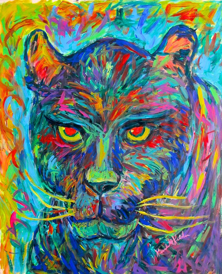 For Sale Painting - Panther Stare by Kendall Kessler