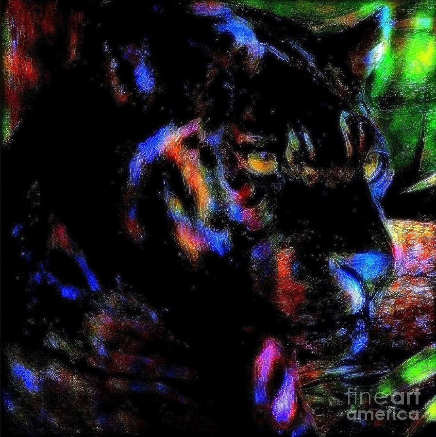 Panther Painting - Panther by Wbk