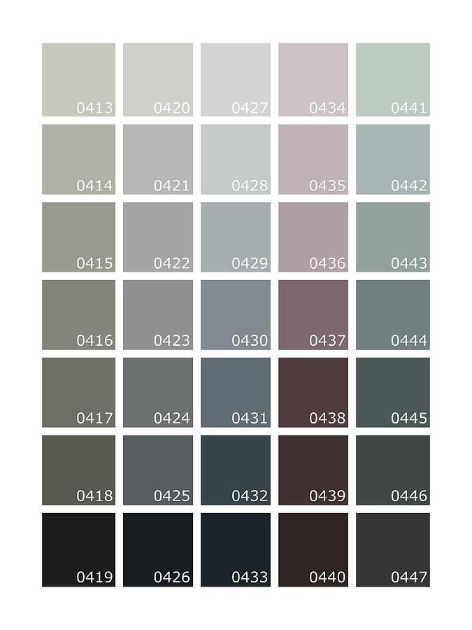 Pantone Shades of Grey Digital Art by Mark Rogan