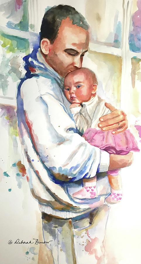 Daddy Painting - Papa by Deborah Burow