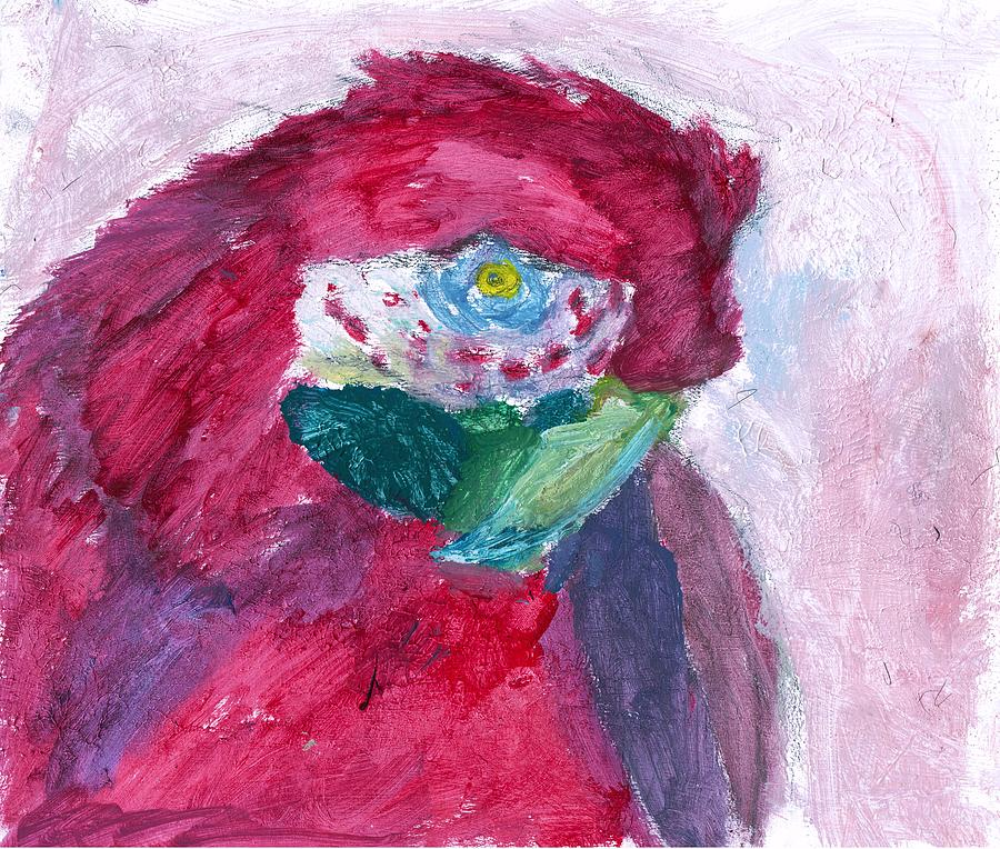 Parrot Painting - Papagallo Number One by TotoTheTriplet