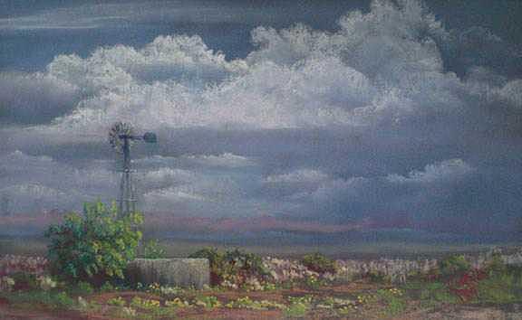 Windmill Painting - Papalote by Jo Castillo