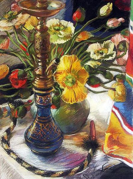Papaveri Painting by Jelena Stepanova-Abate