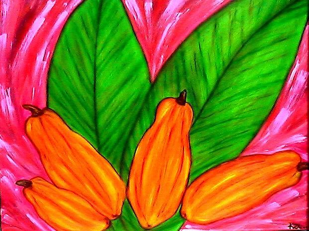 Paradise Painting - Papaya Paradise by KETYA Richardson