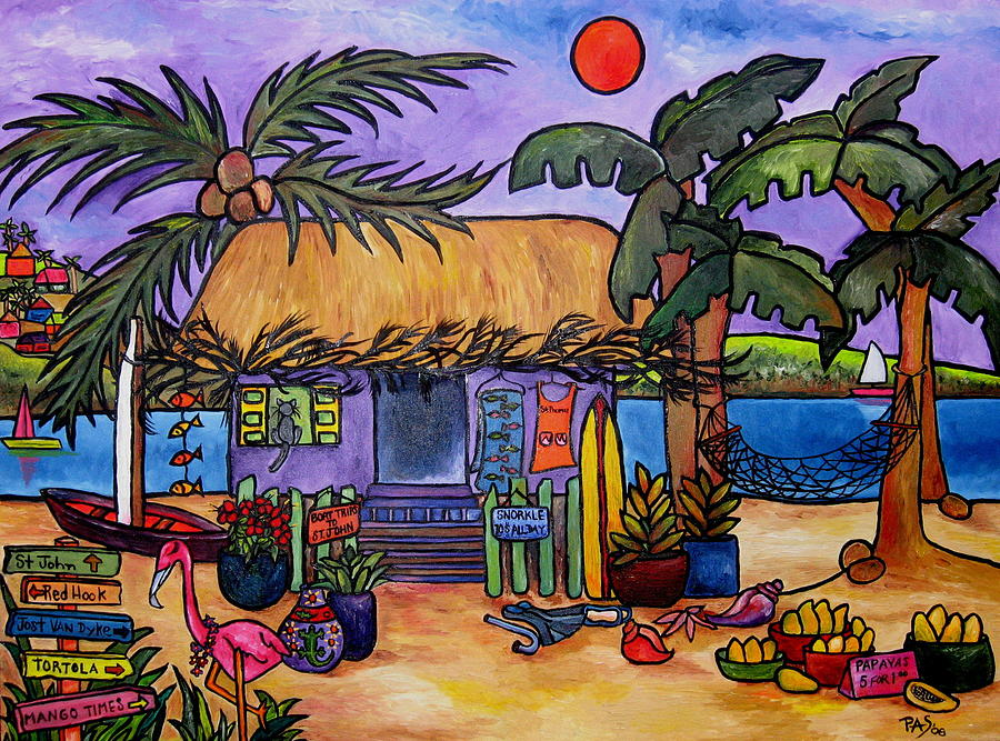 Caribbean Painting - Papaya by Patti Schermerhorn