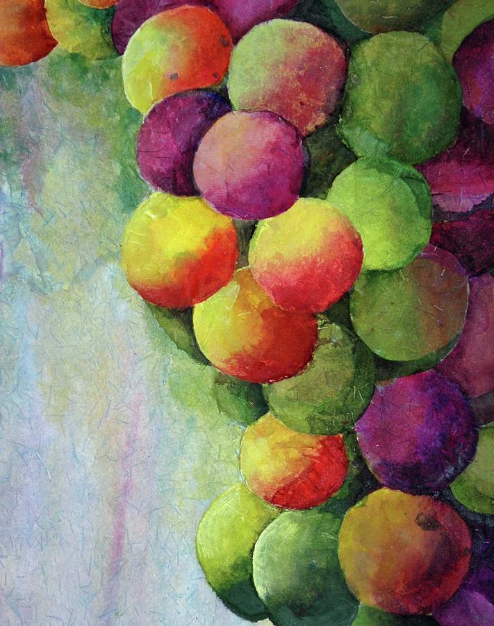 Grapes Painting - Paper Grapes by Diane Fujimoto