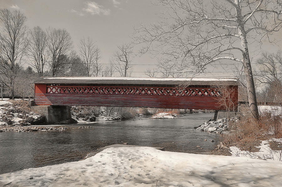 Vermont Photograph - Paper Mill Village Bridge by JAMART Photography