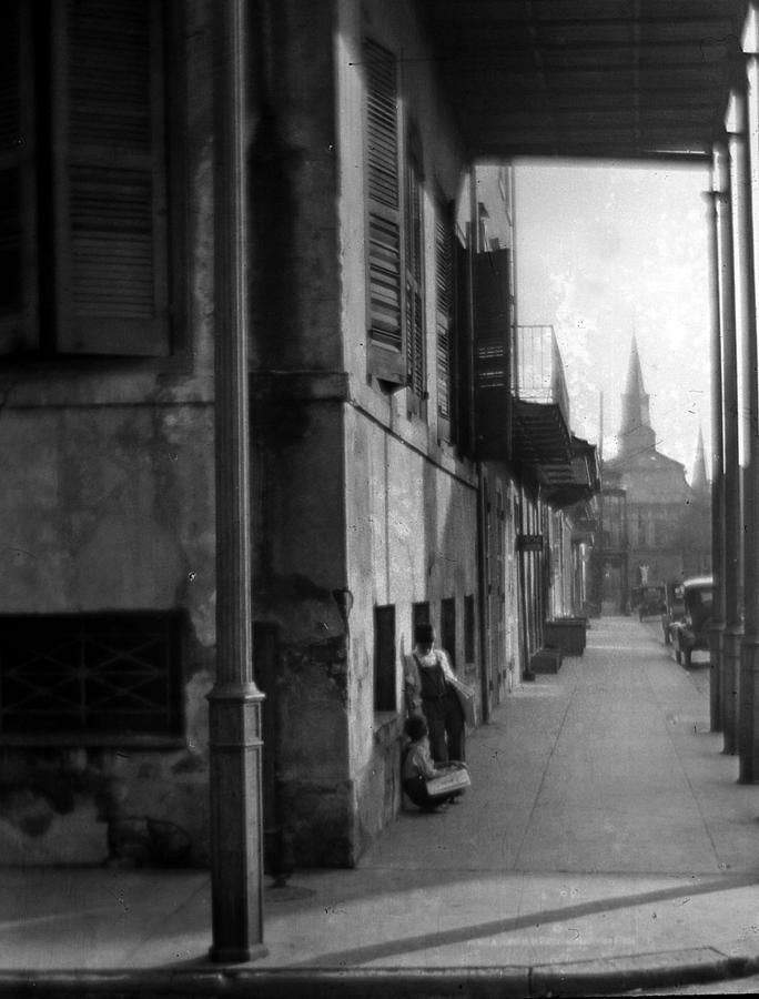 St Louis Cathedral Photograph - Paperboys by Crescent City Collective