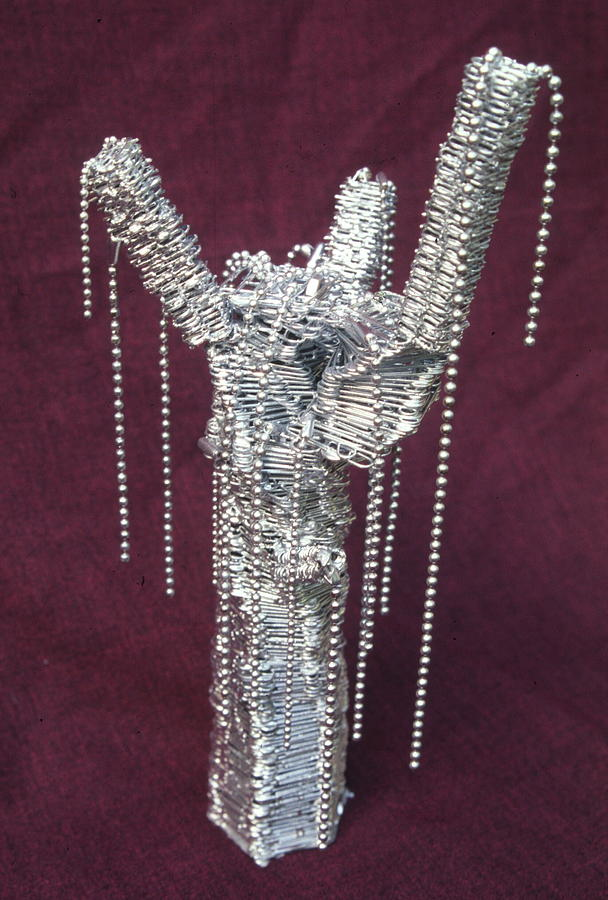 Found Object Sculpture - Paperclip Tree by Sara Allison