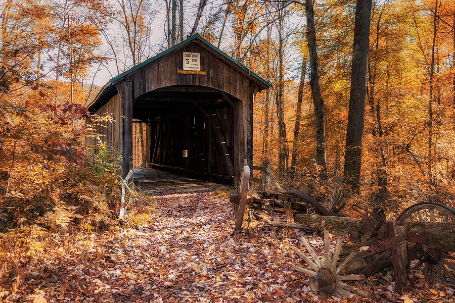 Architecture Photograph - Pappy Hayes Covered Bridge by Tom Mc Nemar