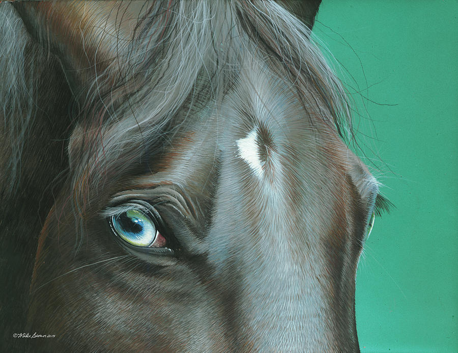 Horse Painting - Pappy by Mike Brown