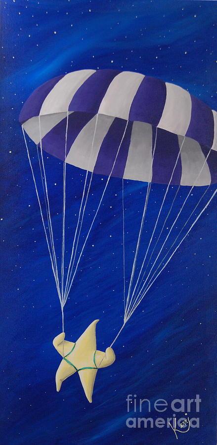 Whimsical Painting - Para-shooting Star by Kerri Ertman