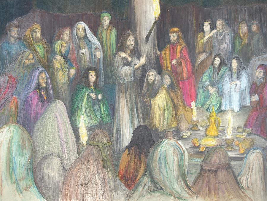 Christain Art Drawing - Parables by Rick Ahlvers