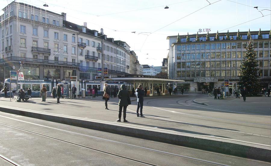Paradeplatz - Bahnhofstrasse, Zurich Photograph by Travel Pics