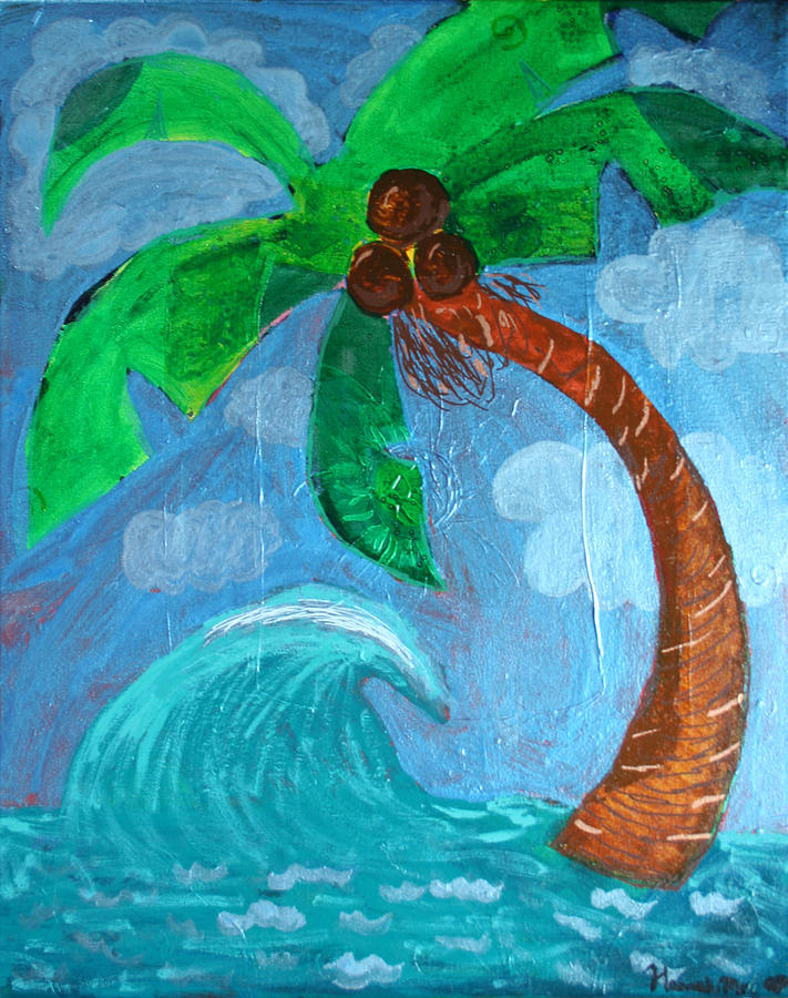 Palm Tree Painting - Paradise by Amy Parker