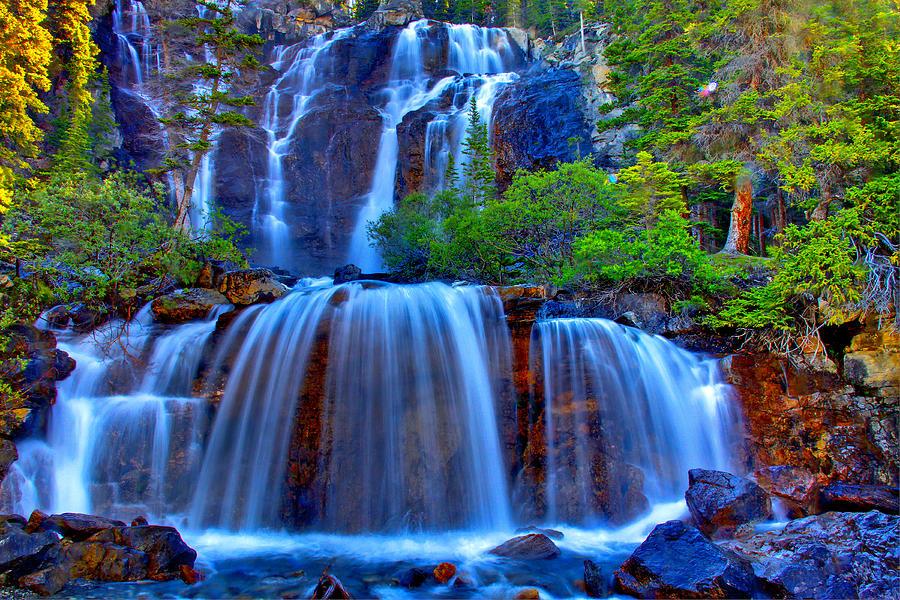 Waterfall Photograph - Paradise Falls by Scott Mahon
