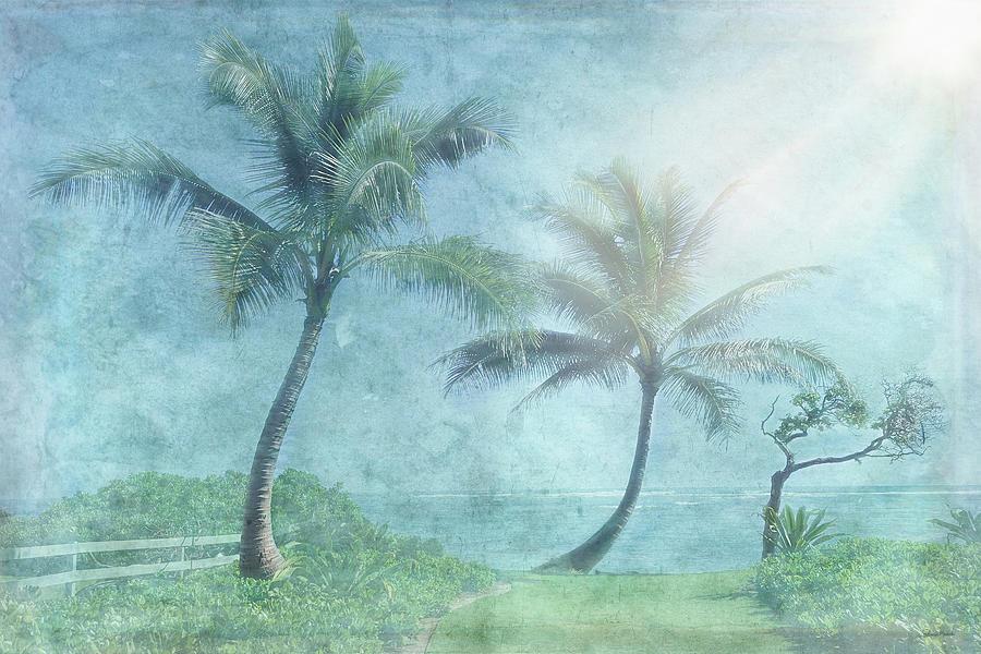 Palm Digital Art - Paradise Found by Ramona Murdock