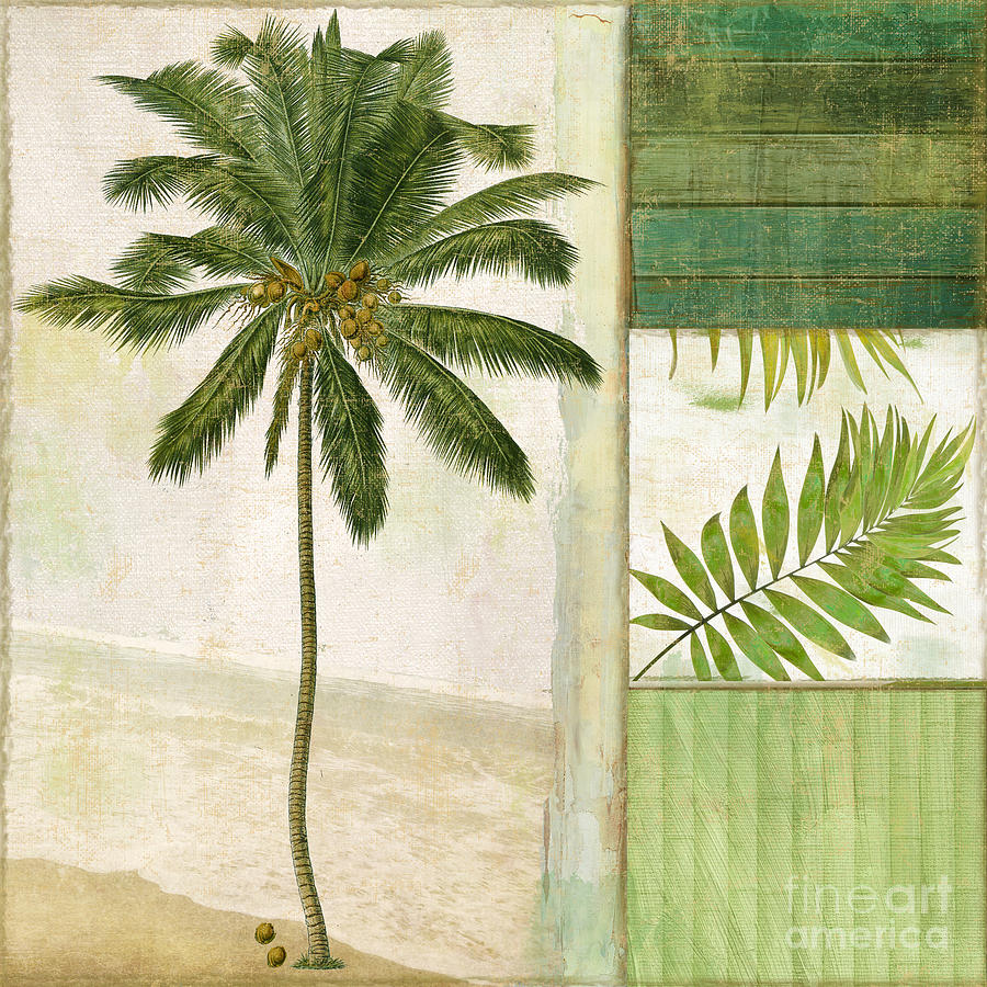 Palm Tree Painting - Paradise II Palm Tree by Mindy Sommers