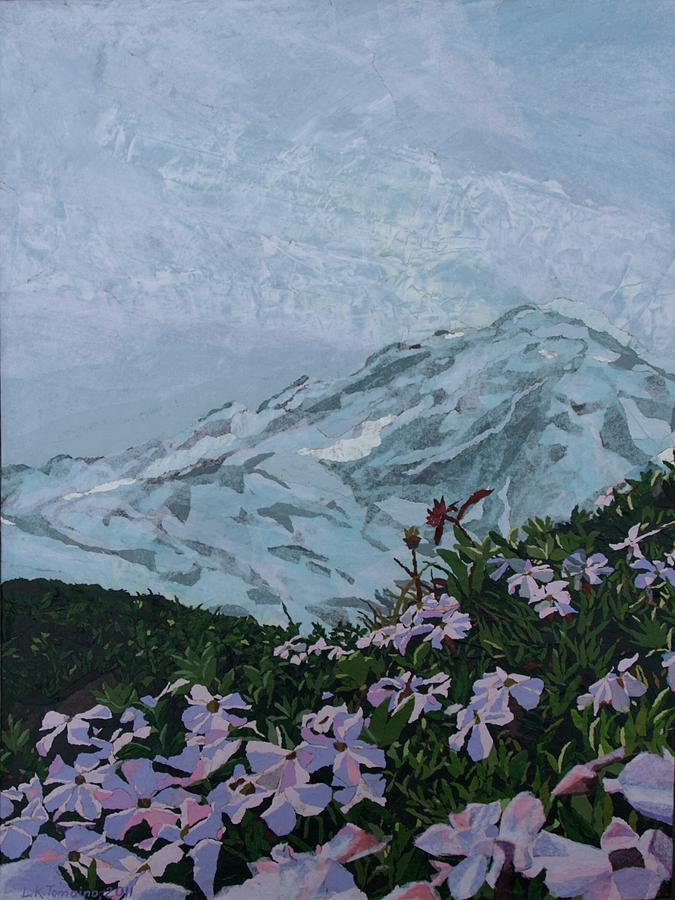 Landscape Painting - Paradise Mount Rainier by Leah  Tomaino