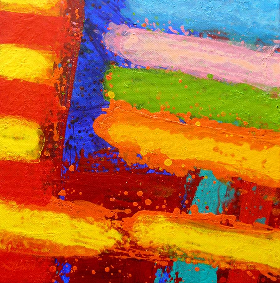 Abstract Painting - Parallel II by John  Nolan