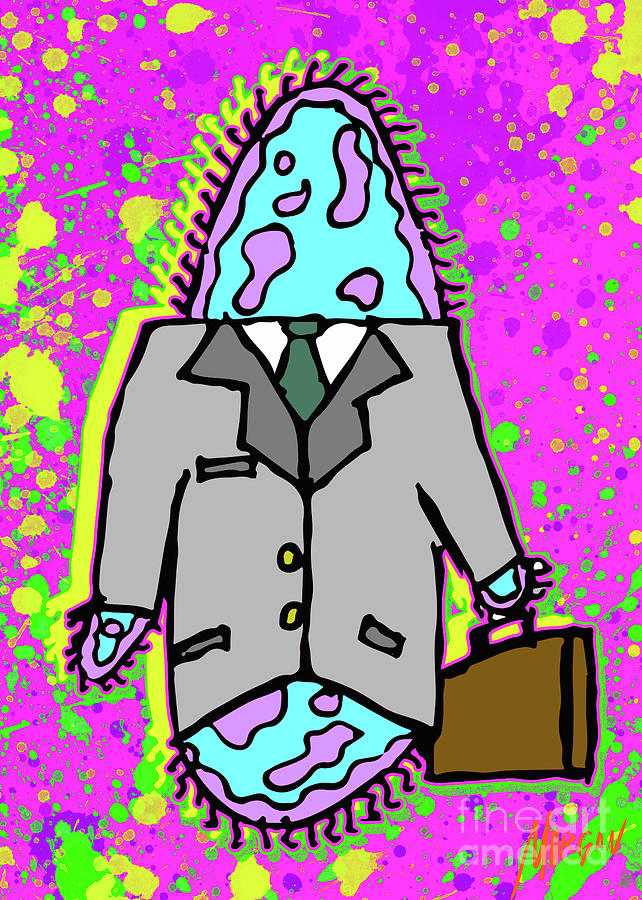 Snail Digital Art - Paramecium On Business by Morgan Richardson