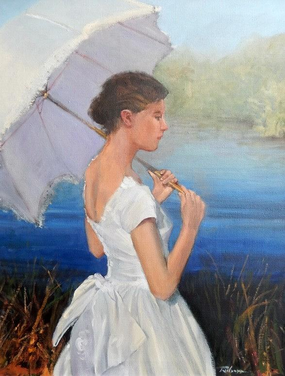 Vintage Painting - Parasol by Ron Wilson