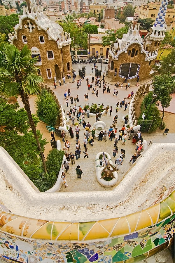Parc Guell Photograph - Parc Guell In Barcelona by Sven Brogren